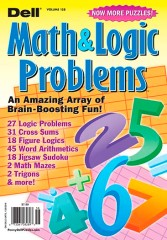 Dell Math Puzzles & Logic Problems Magazine
