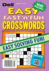DELLS BEST EASY FAST N FUN CROSSWORDS Magazine